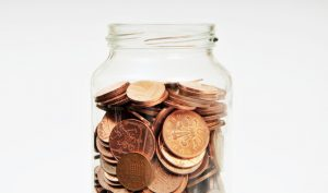 Image showing a jar full of coins